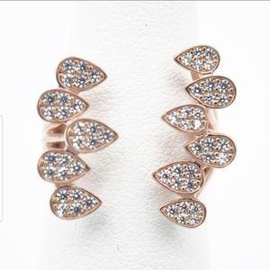 Jewelry - Teardrops Open Ring Rose Gold Sterling Silver